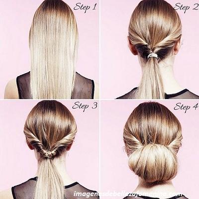 tipos de peinados para mujeres paso a paso moño