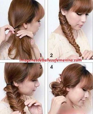 tipos de peinados para mujeres paso a paso trenza