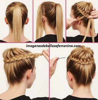 tipos de peinados para mujeres paso a paso trenzas