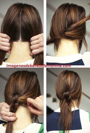 imagenes de peinados faciles y bonitos paso a paso cola