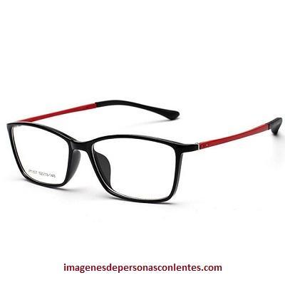 estilo de lentes de aumento para hombres rojas
