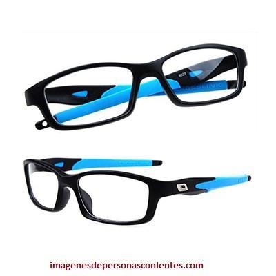 estilo de lentes de aumento para hombres azules