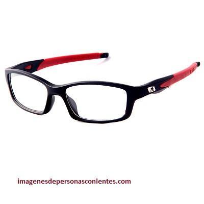 estilo de lentes de aumento para hombres rojos