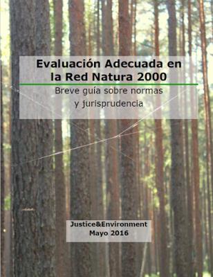 Evaluación Adecuada de la Red Natura 2000