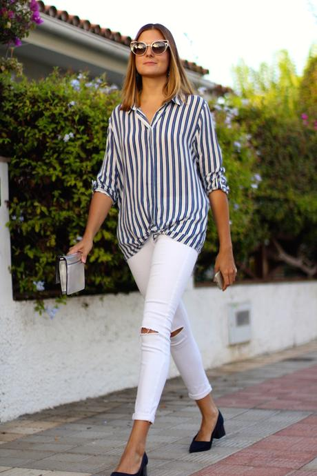 STRIPED SHIRT AND GRANNY SHOES