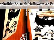 Reto terrorífico imprimible bolsa halloween