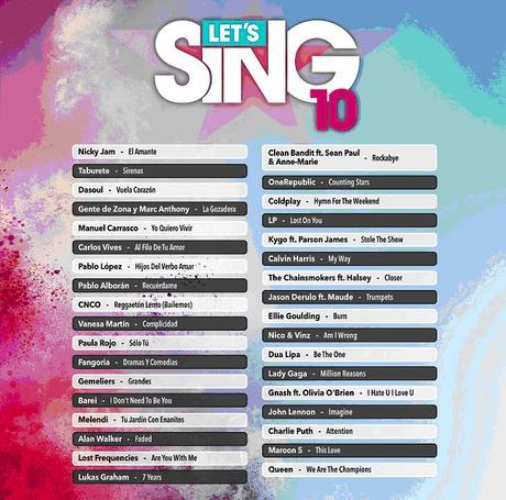 Ya podemos darlo todo con el micro en Let's Sing 10