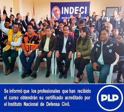 NELSON CHUI CLAUSURA CURSO DE ACCIONES DE RESPUESTA FRENTE A EMERGENCIAS…