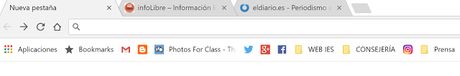Administrar y sacarle partido a la barra de marcadores de Google Chrome
