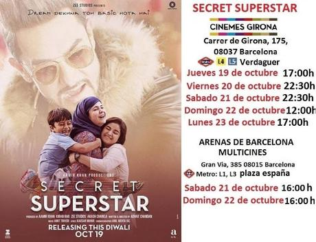 Secret Superstar en el cine. ¡Disfrutando del cine bollywood en Barcelona!