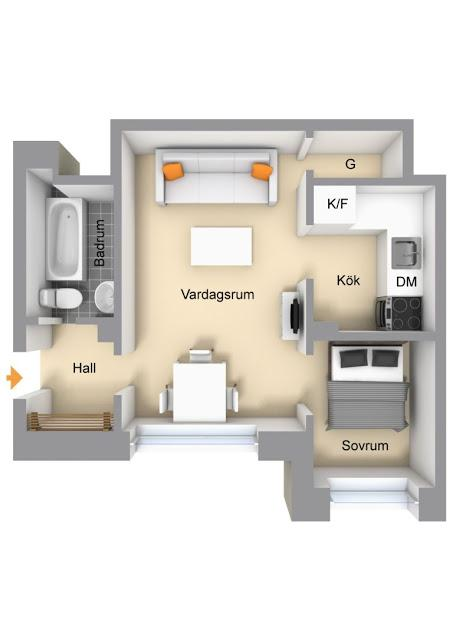 Cómo convertir 34m2 en un hogar