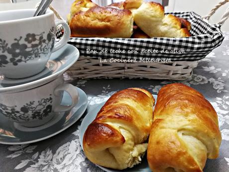 Pan de leche con aceite de oliva