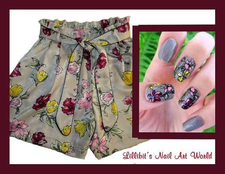 Manicura a juego con mis shorts de Zara con el esmalte Starry Sky 47 de Born Pretty Store
