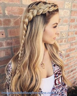 peinados para cabello largo para señoras trenzas