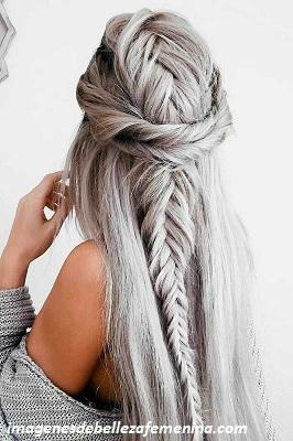 peinados para cabello largo para señoras recogidos