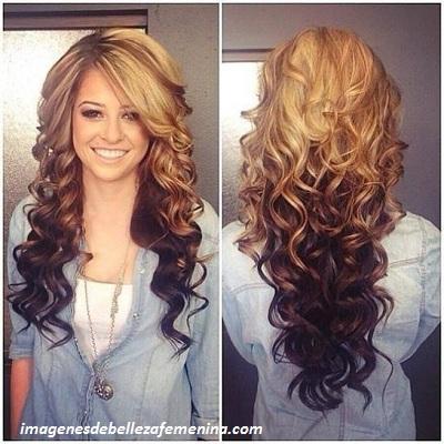 peinados para cabello largo para señoras suelto