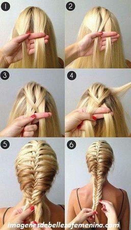 Como hacer peinados con trenzas de cuatro