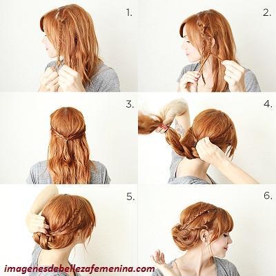 como hacer peinados de trenzas paso a paso pegadas