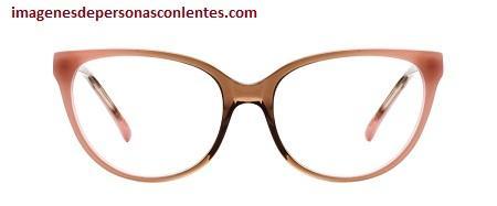lentes oftalmicos de moda para mujer rosa