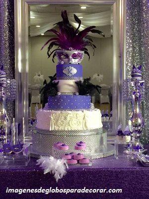 ideas para decorar un salon para 15 años pastel