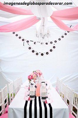 ideas para decorar un salon para 15 años rosado