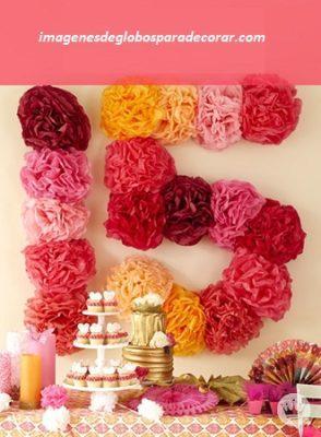 adornos para decorar fiesta de 15 años numeros