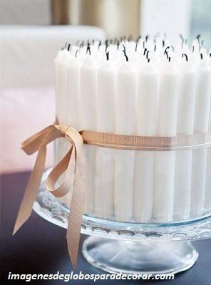 adornos para decorar fiesta de 15 años velas