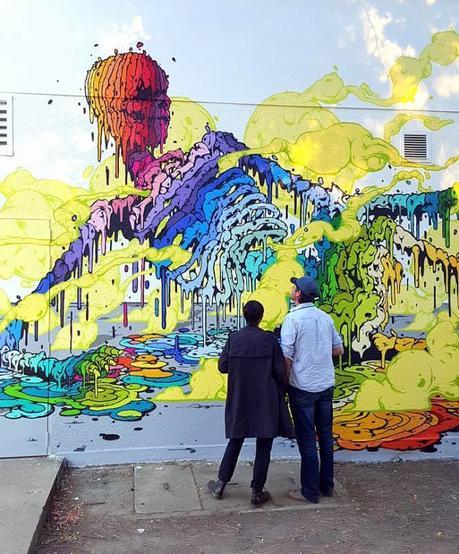 Hermosos murales de Street Art del artista Frances Brusk