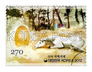 El caballo alado y el huevo colosal, junto al pozo de Najeong