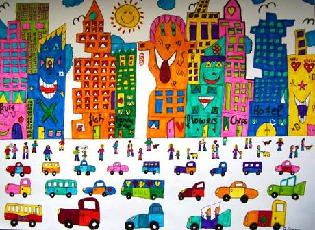 Pintando paisajes urbanos coloridos