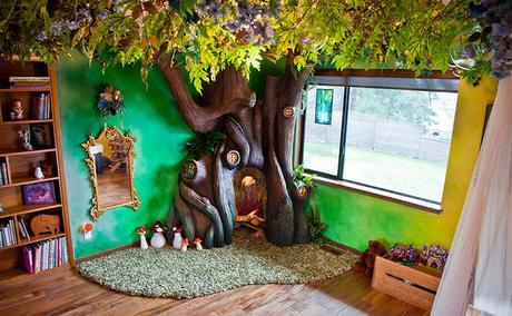 Un padre le cumple el sueño a su hija y trabaja duro para transformar su habitación en un mundo mágico