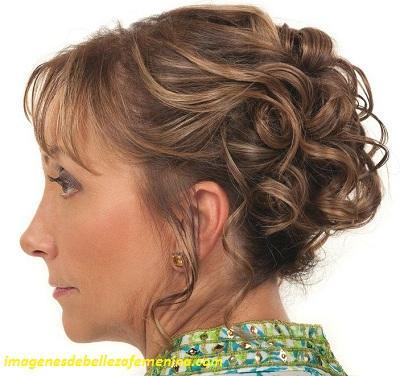 peinados para señoras mayores para una boda recogido