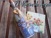Reciclar botellas decoupage