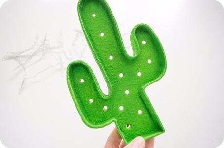 DIY: Lampara cactus led