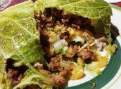Repollo relleno carne Fagotto verza ripieno salsiccia