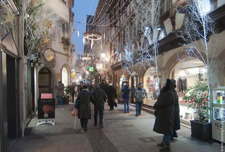 Viaje Alsacia Estrasburgo Navidad noche