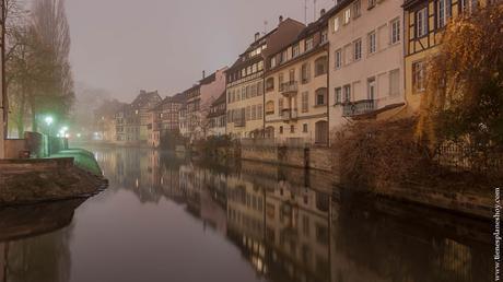 La Petite France de noche Estrasburgo
