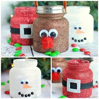 11 Manualidades navideñas reciclando frascos de vidrio