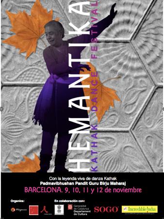 Hemantika,festival de danza kathak en Barcelona