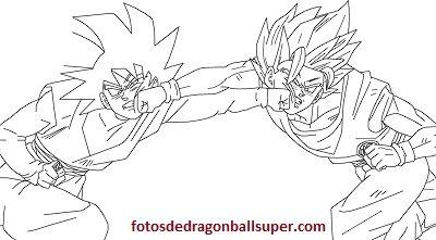 Goku En 4 Dibujos Para Pintar De Dragon Ball Super Sin Color Paperblog