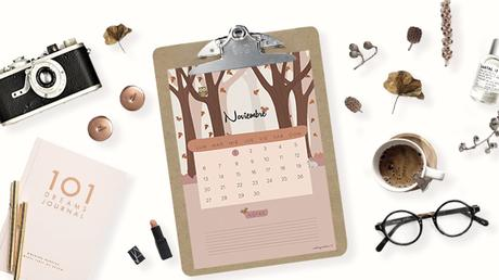 Freebie - Calendario de noviembre