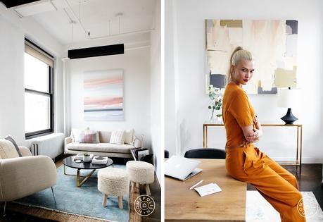 Las oficinas de la supermodelo y emprendedora Karlie Kloss