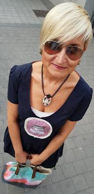 Vestido Silvia Calles y botines Ana Monsalve