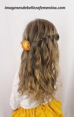 peinados para nenas para fiestas ondas