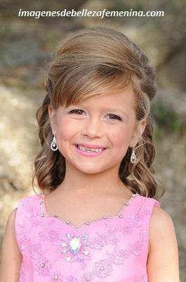 peinados para nenas para fiestas elegante