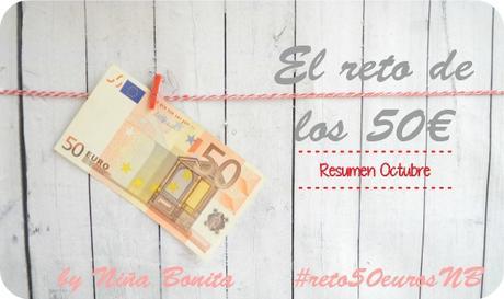 Reto de los 50 euros - Resumen Octubre