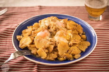 Patatas al ajillo pastor, receta de Jaén