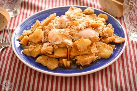 Patatas al ajillo pastor