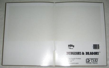 Portafolios de y otros productos de papelería de D&D (80's)