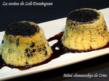 Mini cheesecakes de Oreo (Mini tartas de queso con galletas Oreo)